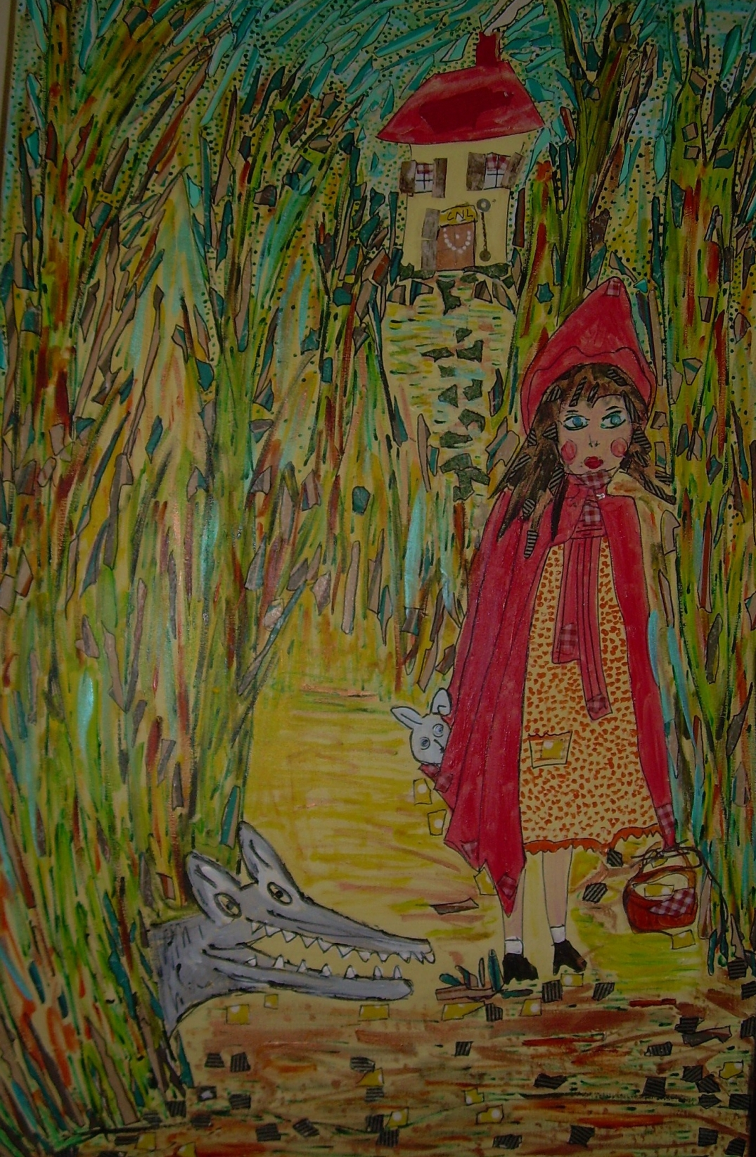 Le petit chaperon rouge 120x80cm Collection privée
