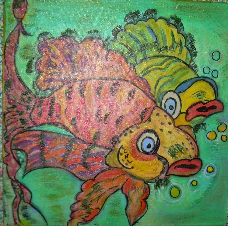 Comme un poisson dans l'eau50x50cm Vendu