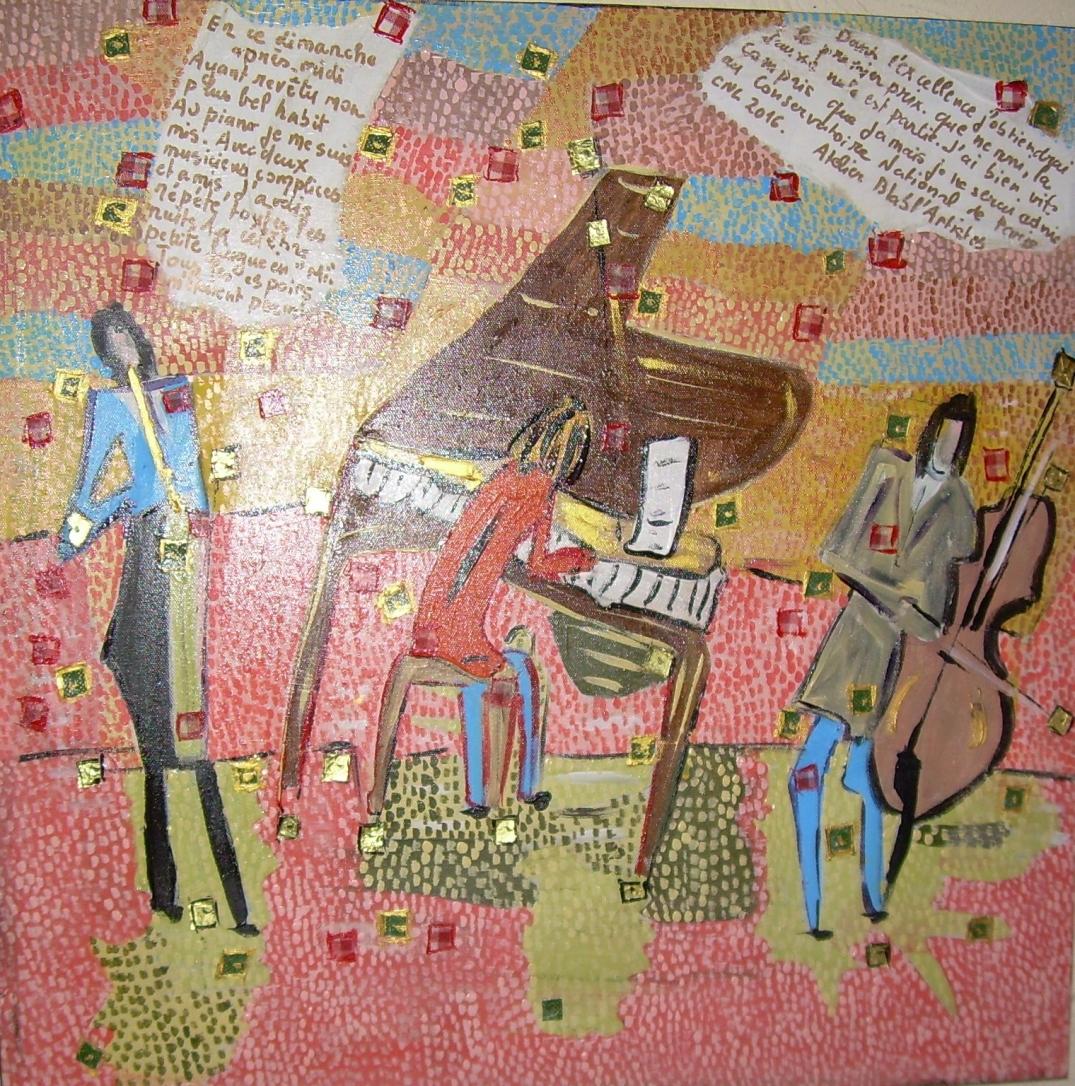 Musique maestro 50x50cm Vendu