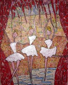 Dimensions 40x50cm Ballet