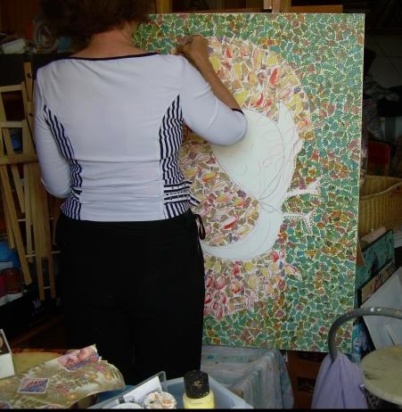 Etape 3 : Christine au pinceau