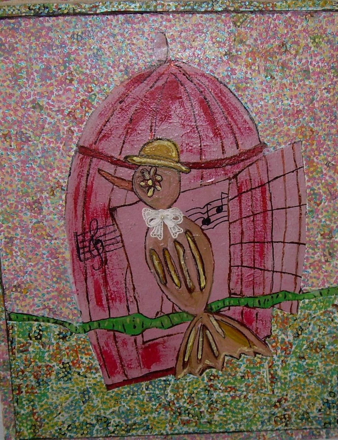 44x55cm comment dessiner un oiseau, d'après Jacques Prévert