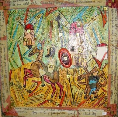 Vendu50x50cm Les aventures extraordinaires de Don Quichotte et son petit valet