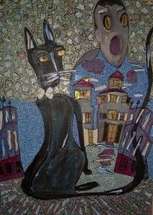 50x70cmLe chat noir (Edgar Allan Poe)