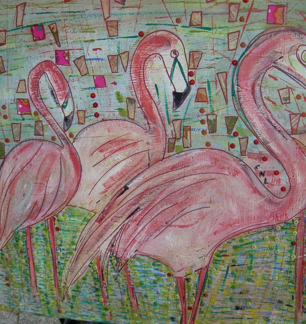 60x60cm La vie en rose Vendu
