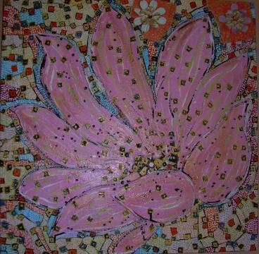 60x60cm La Fleur Rose