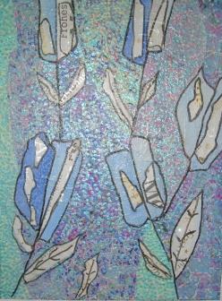 40x50cm Fleur bleue