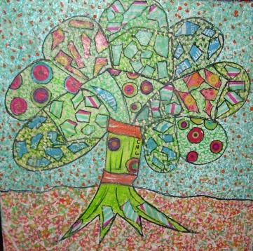40x40cm L'arbre-légume Vendu