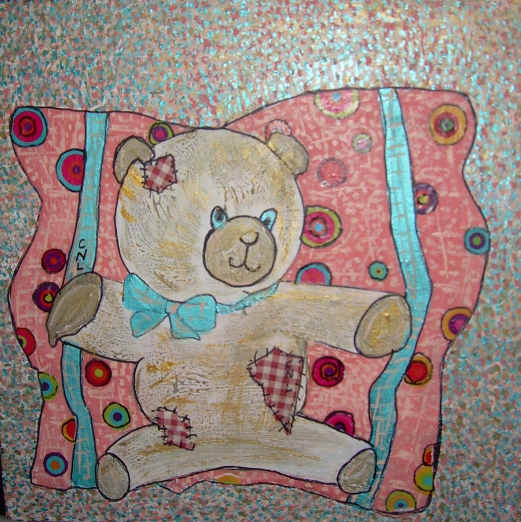 40x40cm L'ours Cannelle