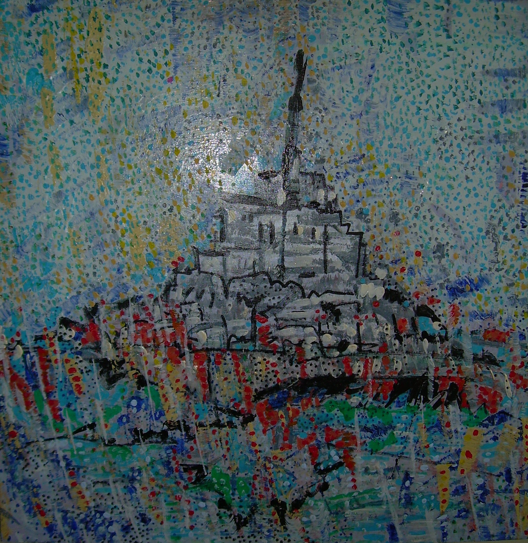 50x50cm le mont saint-michel