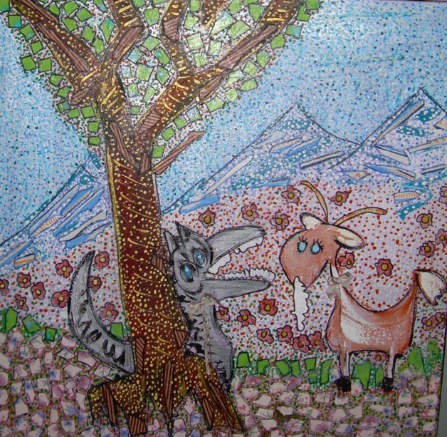 60x60cm La chèvre de Mr Seguin