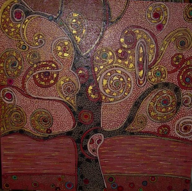 90x90cm A la manière de...Klimt (d'après Gustav Klimt)