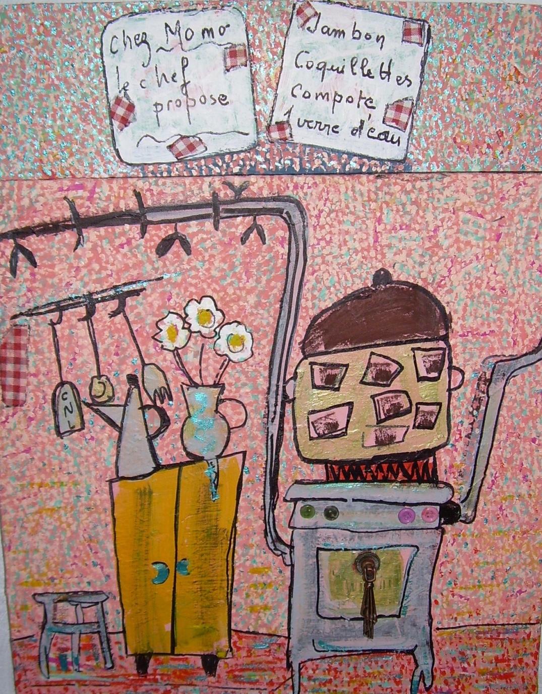 43x57cm Petit traité de cuisine selon MOMO Vendu