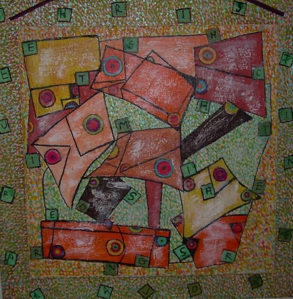 50x50cm E.S.C.A.R.G.O.T. (d'après Henri Matisse)