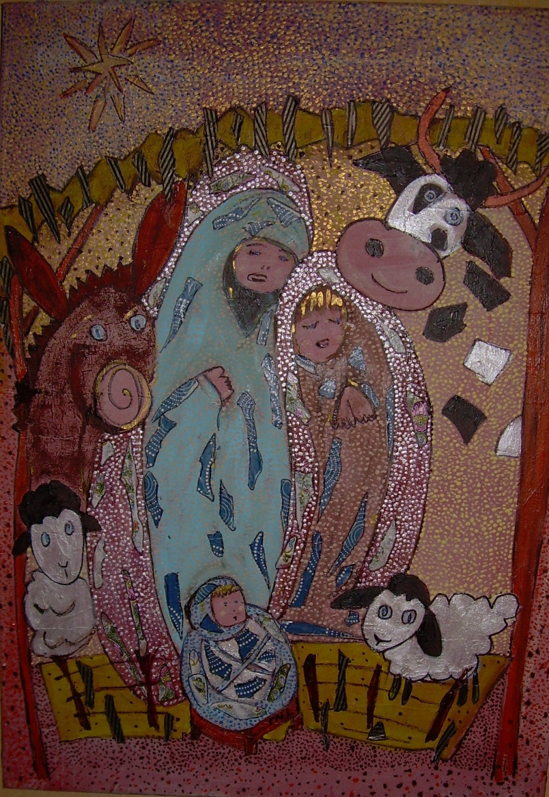 50x70cm La Crèche de Noël Collection privée