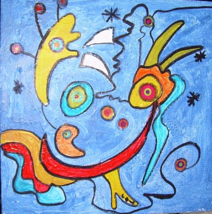 30x30cm Je suis Miro de toi (d'après Joan Miro)