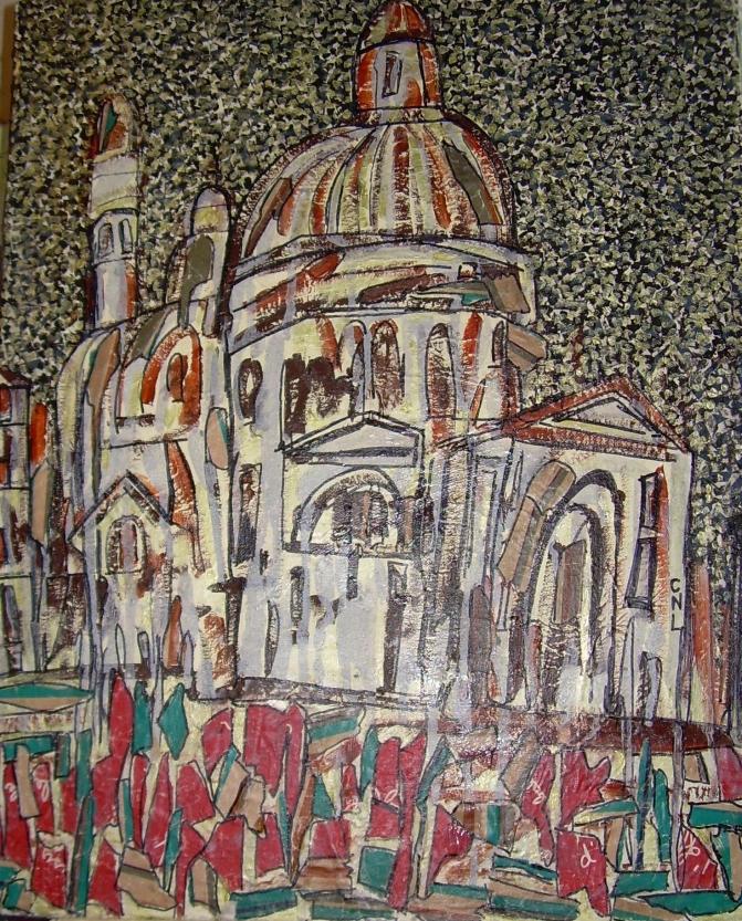 45x52cm Santa Maria della Salute (d'après Walter Sickert)