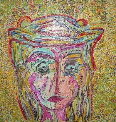 50x50cm Période Jaune (d'après Picasso)