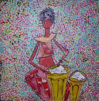 30x30cm musique d'afrique