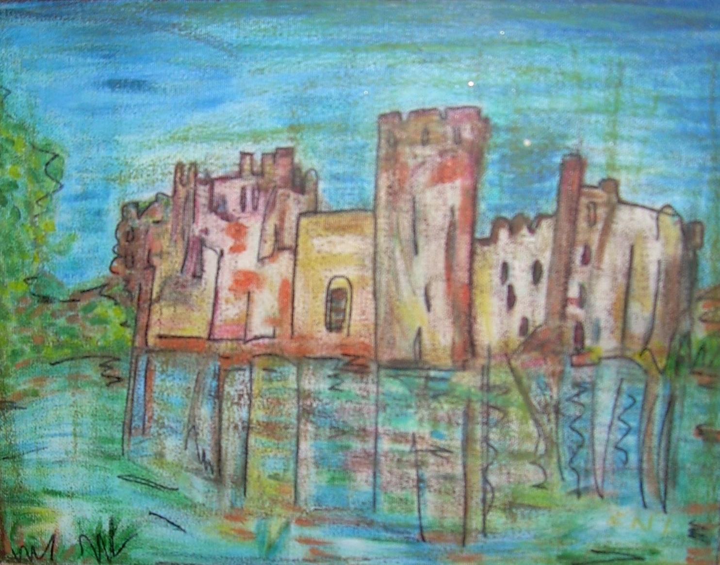 30x40cm Chateau en ecosse