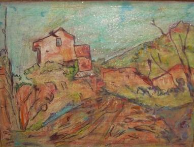 30x40cmle massif de la ste-victoire d'après paul cézanne