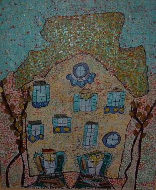 Vendu 50x70cm La maison des fées au pays enchanté