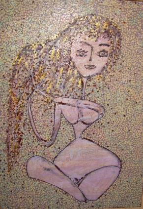 50x70cm portrait d'une courtisane