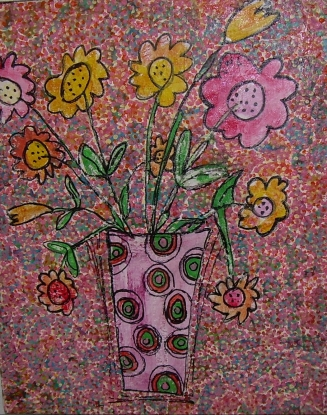 peace and love 34x41cm vendu