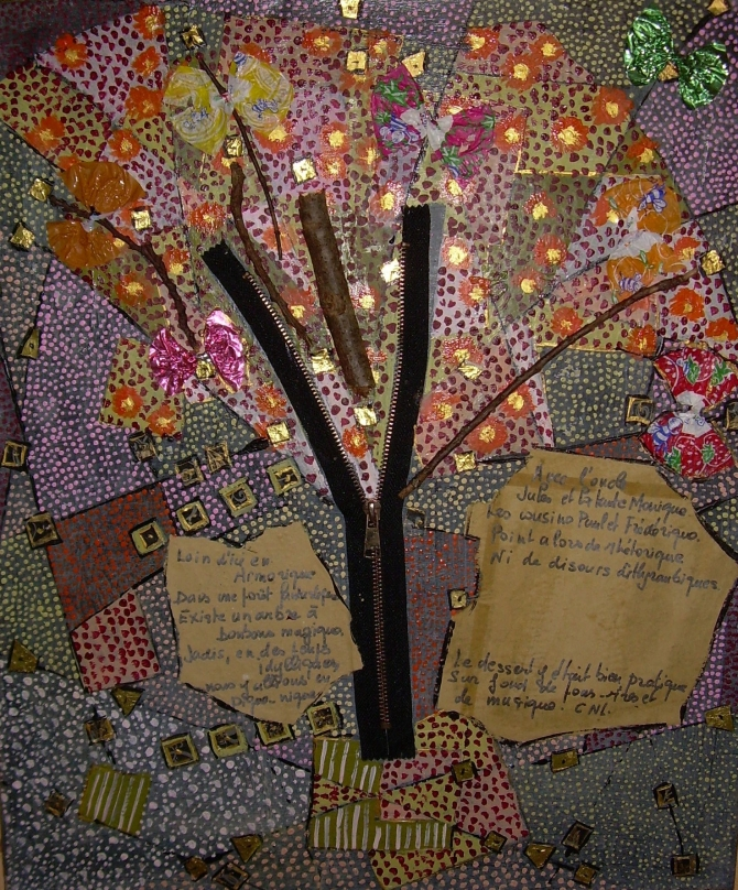 48x55cm L'arbre à bonbons