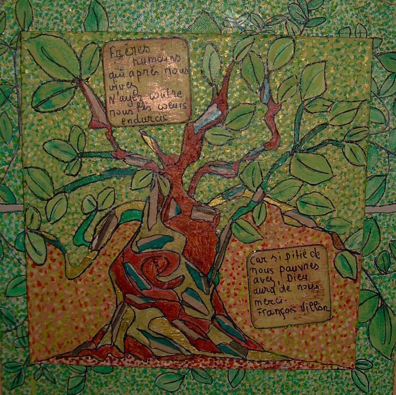 50x50cm L'arbre aux pendus