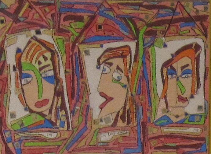 50x70cm Portrait au vitriol Vendu