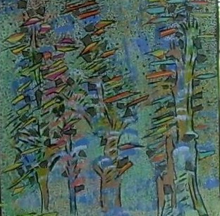 50x50cm Dans la Forêt Vendu