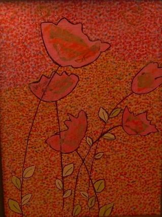 30x40cm Les Fleurs dorées