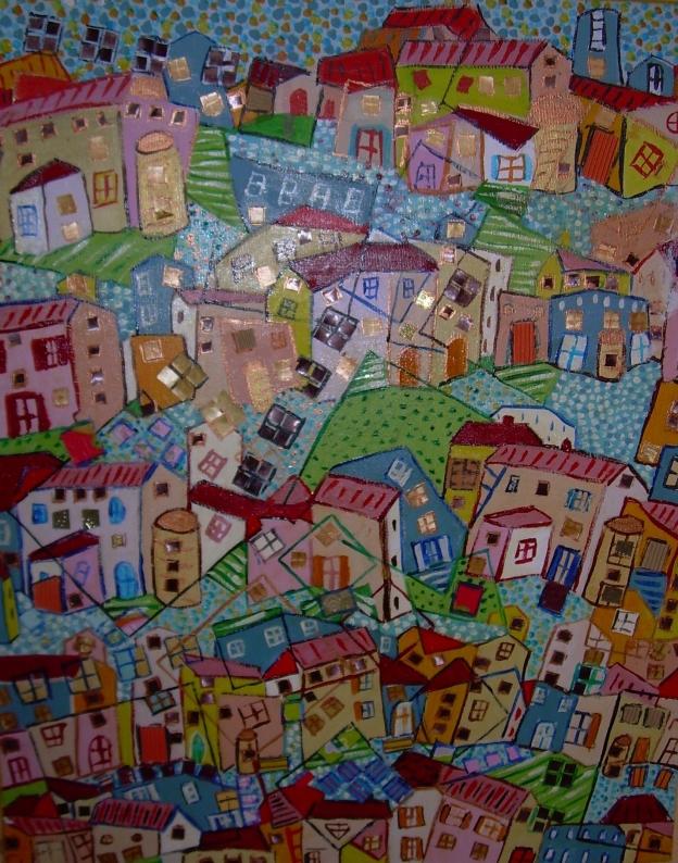40x60cm Vendu La cité en couleurs