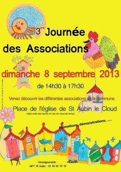 affiche pour la journée des associations 2013