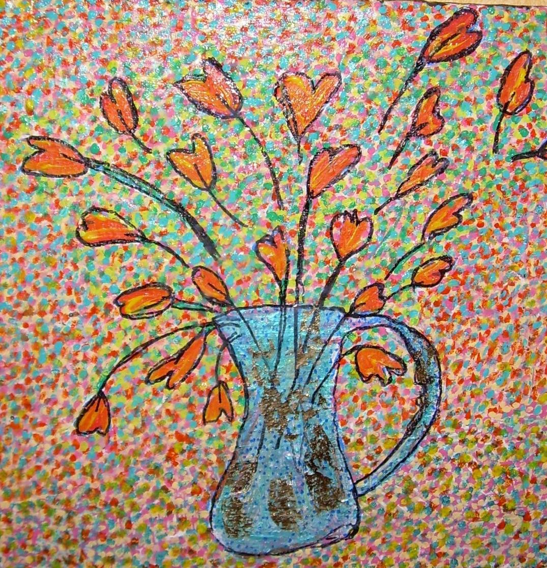 30x30cm Des fleurs pour vous