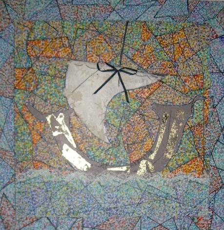 50x50cm Fluctuat nec Mergitur (d'après la médaille de la Monnaie de Paris)