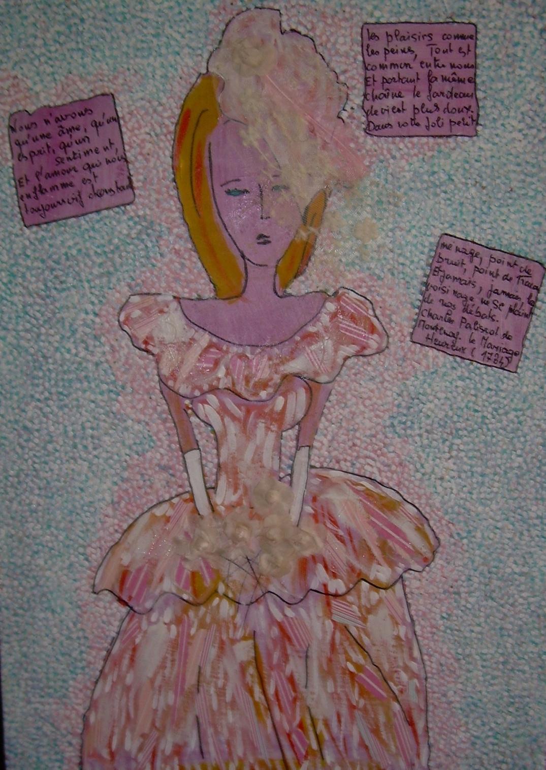 50x70cm La mariée était en rose