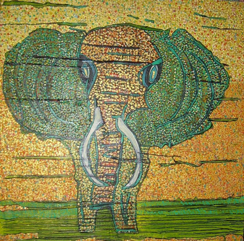 60x60cm Eléphantissimo Vendu