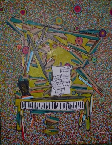 57x48cm Le son de piano