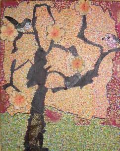 30x40cm Printanière floraison