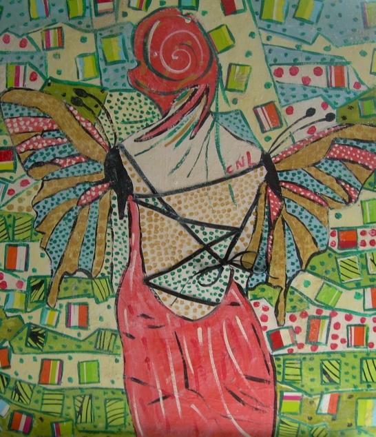 40x50cm Vendu La Fée Papillon bis