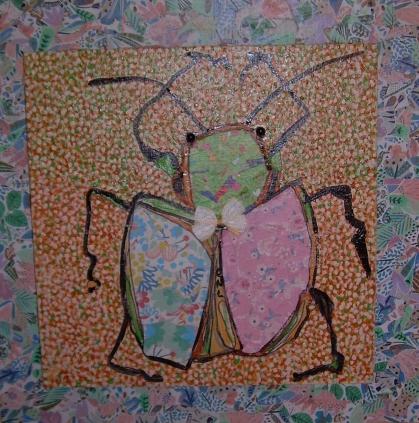 40x40xm Patchwork de scarabée