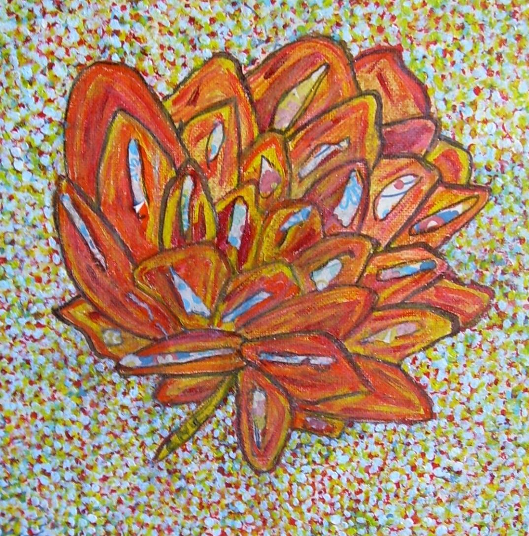 50x50cm Vendu Il était une fleur...