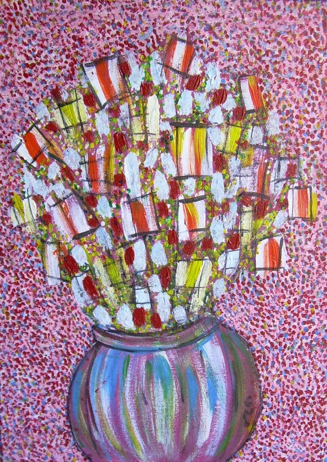 70 x 50 cm Vendu Le bouquet de senteurs