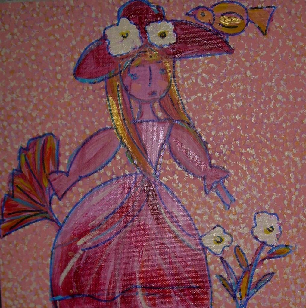 Les retrouvailles de Dame Eurydice et Messire Orphée - L'atelier peinture de Christine