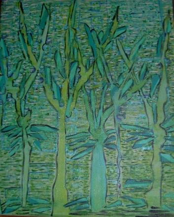 40x50cm La forêt enchantée