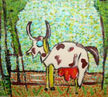 la vache, les animaux de la ferme