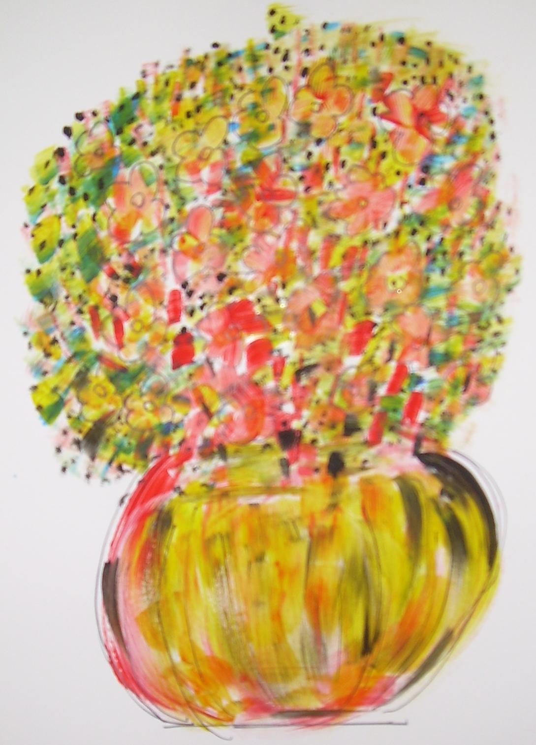 20x30 cm Crayons aquarellables Bouquet Champêtre