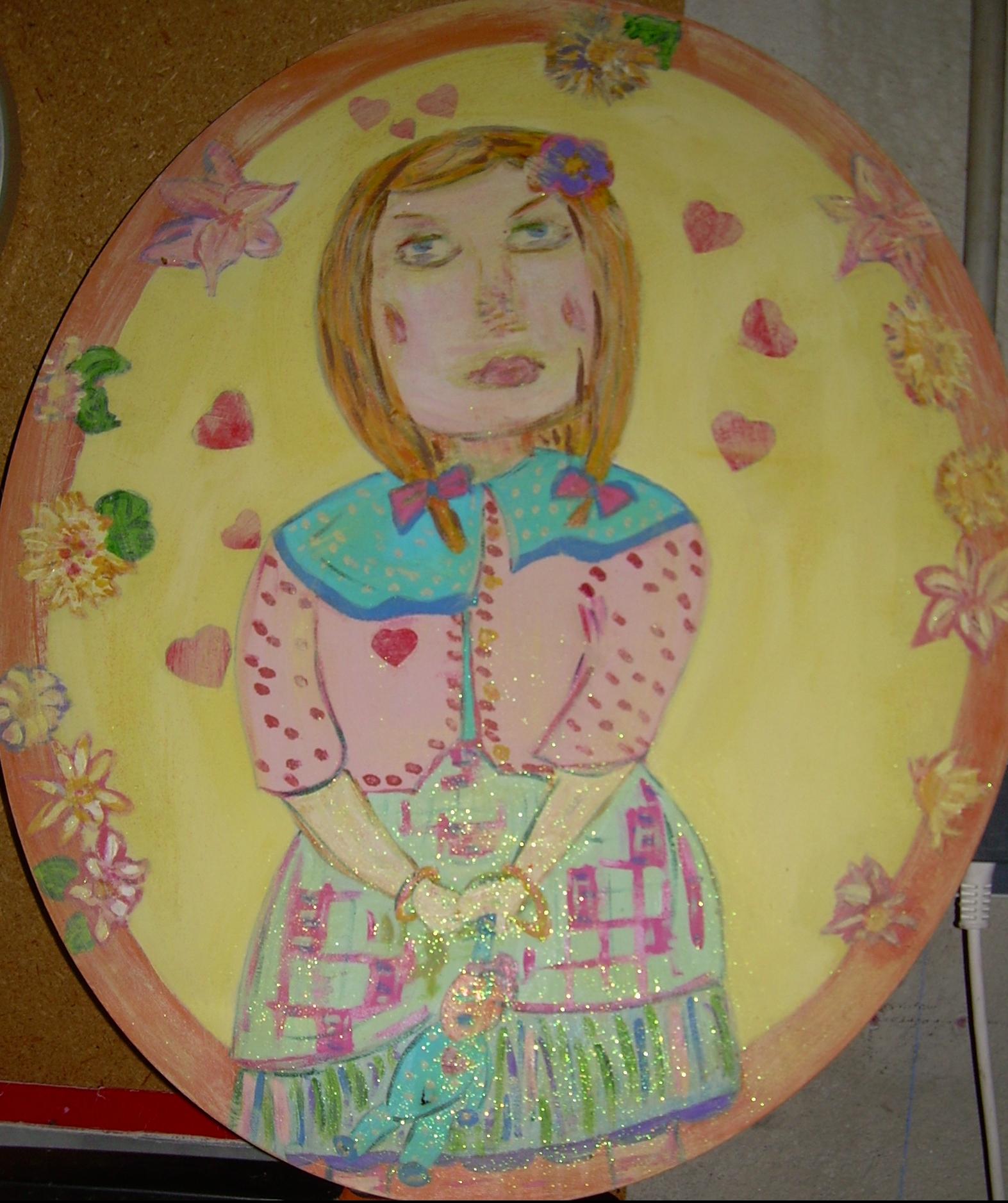 ovale 60cm Portrait de Lilie-Jeanne, Vendu
